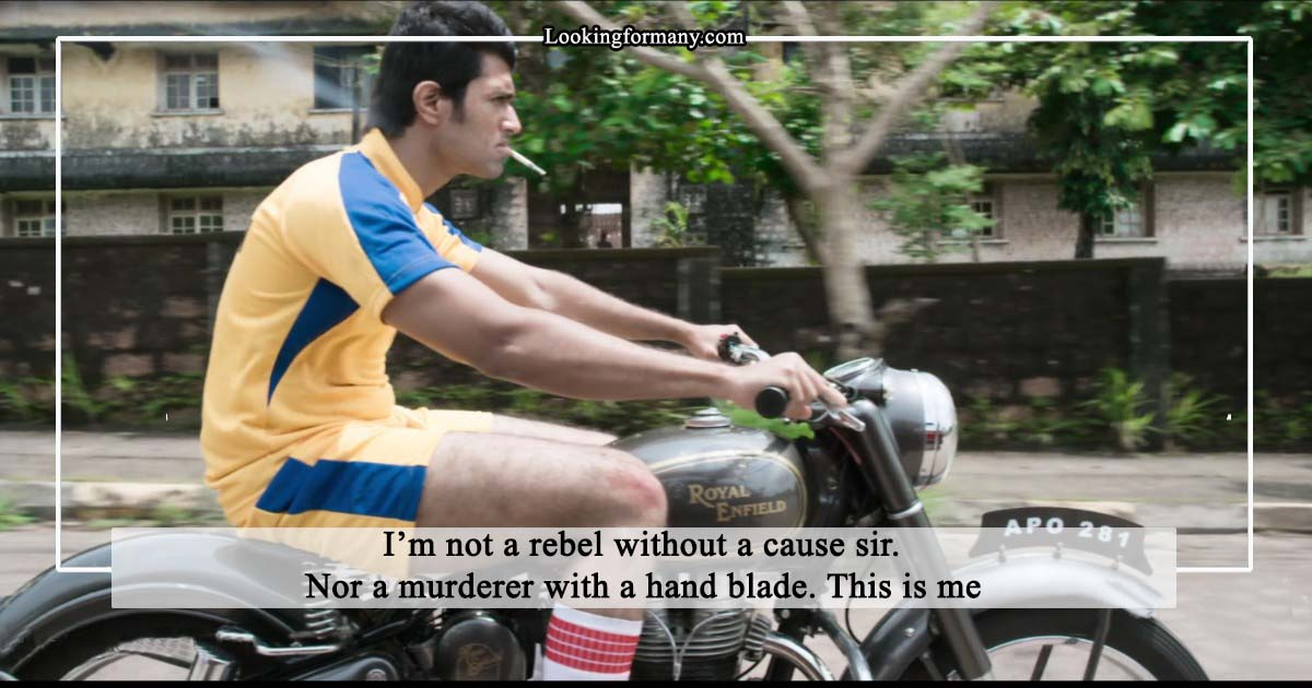 I'm not a rebel without a cause sir
