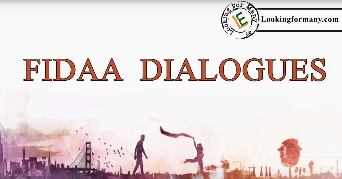 Fidaa Dialgoues Lyrics in Telugu with Images