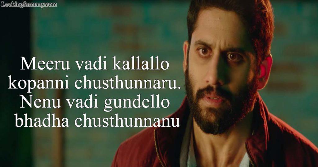 Meeru vadi kallallo kopanni chusthunnaru. Nenu vadi gundello bhadha chusthunnanu