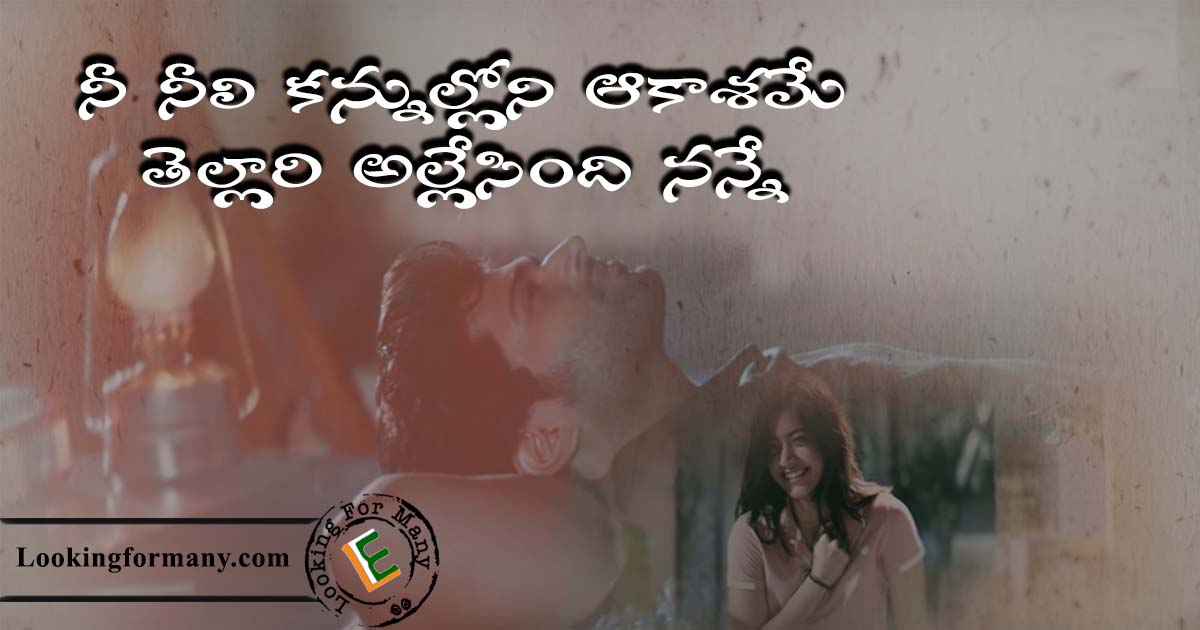 nee neeli kannullona song lyrics in telugu with Images
