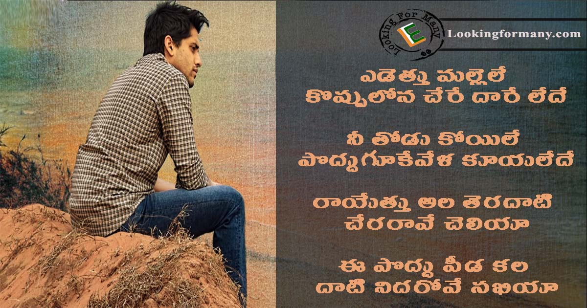 yedetthu mallele song lyrics in telugu with images