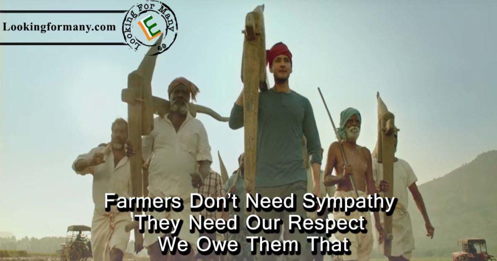 Farmers do not need sympathy - maharshi dialogue 23